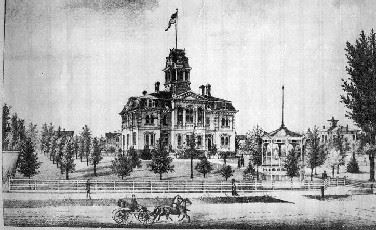 Artist Rendition of 1869 Courthouse