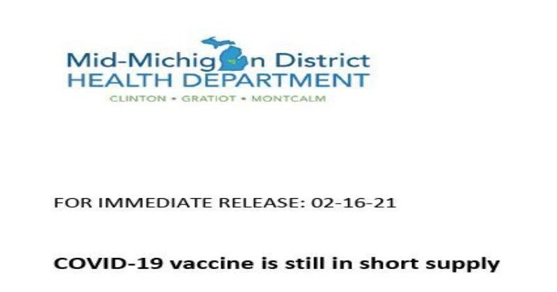 COVID-19 VACCINE STILL IN SHORT SUPPLY